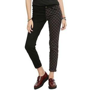 Royal Bones Hot Topic Checkered Skinny Jeans 1824